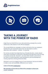 Radio campaign announcement